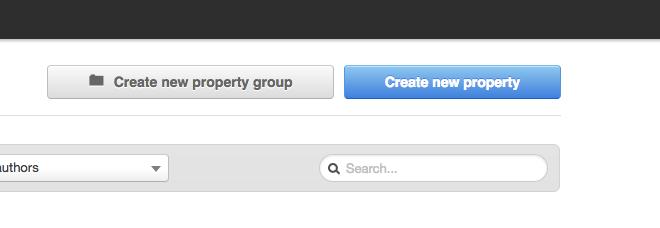 Blue create property button - Hubspot CRM and Zapier Integration