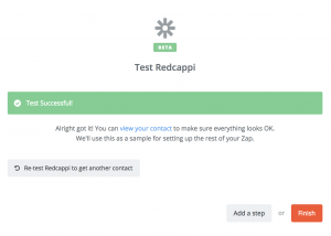 Hubspot CRM Adds contact to RedCappi Email Marketing Software